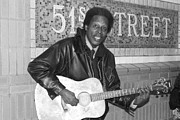 Black Jacket Photos - 51st Street Subway Musician by John Telfer