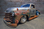 Rusty Pickup Truck Photos - 52 Chevy Truck by Debra and Dave Vanderlaan