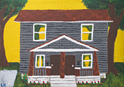 House Portrait Prints - 523 Oakdale Print by Laurie Kerr