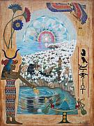 Hieroglyphics Paintings - 52ac. Morning Star by Sigrid Tune