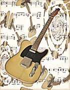 Fender Telecaster Framed Prints - 53 Fender Telecaster Framed Print by Claudia Kuhn