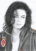 Greeting Cards Prints - Michael Jackson Print by Eliza Lo
