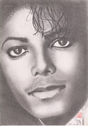 King Of Pop Drawings Posters - Michael Jackson Poster by Eliza Lo