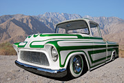 Chevrolet Pickup Truck Posters - 55 Custom Chev PU Poster by Bill Dutting