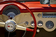 1957 Corvette Prints - 55 Dash Print by Dennis Hedberg