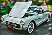 1956 Chevy Corvette Framed Prints - 56 Corvette Framed Print by Victor Montgomery
