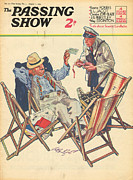 Holidays Drawings Prints - 1930s,uk,the Passing Show,magazine Cover Print by The Advertising Archives