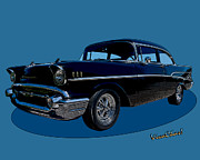 Street Rod Art - 57 Belair Two-Door by Chas Sinklier