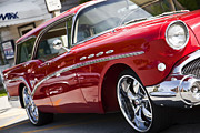 Red Edsel Posters - 57 Buick Caballero Side view Poster by Michal Batko