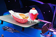 Burger Prints - 57 Chevy at a Drive-In Print by Gunter Nezhoda