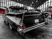 Automobile Posters - 57 Chevy Bel Air 001 Poster by Lance Vaughn