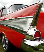 Red Chev Posters - 57 Chevy Poster by Doug Matthews
