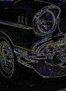1957 Ford Custom Prints - 57 Chevy Glow Print by Steve McKinzie