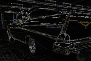 1957 Ford Custom Prints - 57 Chevy Neon Glow Print by Steve McKinzie