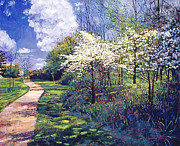 Popular Paintings - 584 Dogwood Trees in Bloom by David Lloyd Glover