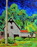 Intense Painting Originals - 5899 Pony Farm Road Butler Bridge by Charlie Spear