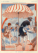 Waitresses Framed Prints - 1920s France La Vie Parisienne Magazine Framed Print by The Advertising Archives