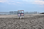 Life Guard Prints - 59th Street Pier in Ocean City Print by Bill Cannon
