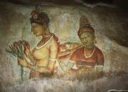 Folkart Photos - 5th Century Cave Frescoes by Chris Caldicott