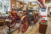 Fire Engines Posters - 1911 LaFrance Steam Powered Fire Engine Poster by Rich Franco