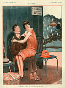 La Vie Parisienne Framed Prints - 1920s France La Vie Parisienne Magazine Framed Print by The Advertising Archives