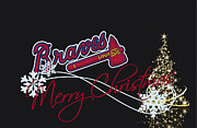Christmas Greeting Photo Framed Prints - Atlanta Braves Framed Print by Joe Hamilton