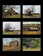Ghost Signs Prints - 6 Barn Collection in Black Print by Greg Jackson