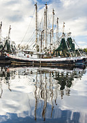 Bayou Labatre' Al Shrimp Boat Reflections Print by Jay Blackburn