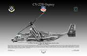 Air Wing Graphics Prints - Bell Boeing CV-22B Osprey Print by Arthur Eggers