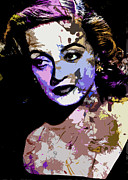 Allen Glass Framed Prints - Bette Davis Framed Print by Allen Glass