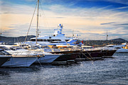 Azure Metal Prints - Boats at St.Tropez Metal Print by Elena Elisseeva