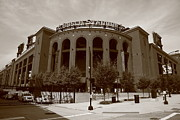Sepia Art - Busch Stadium - St. Louis Cardinals by Frank Romeo