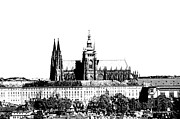 Prague Castle Digital Art Metal Prints - Cathedral of St Vitus Metal Print by Michal Boubin