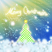 Featured Digital Art Originals - Chess Style Christmas Tree by Atiketta Sangasaeng