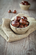Wooden Bowl Photos - Chestnuts by Sabino Parente
