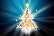 Greeting Digital Art - Christmas Tree by Atiketta Sangasaeng