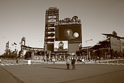 Murals Posters - Citizens Bank Park - Philadelphia Phillies Poster by Frank Romeo