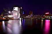 Night-scape Prints - Cleveland Skyline Print by Robert Harmon