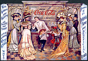 Coca-cola Framed Prints - Coca - Cola Vintage Poster Framed Print by Sanely Great