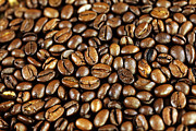 Kaffee Posters - Coffee beans Poster by Falko Follert