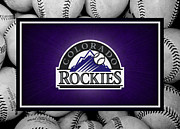 Baseball Bat Posters - Colorado Rockies Poster by Joe Hamilton