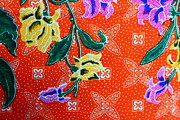 Retro Tapestries - Textiles - Colorful batik cloth fabric background  by Prakasit Khuansuwan