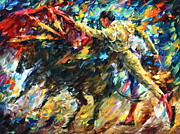 Sport Oil Paintings - Corrida by Leonid Afremov