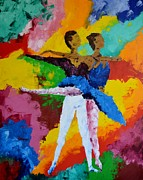 Ballet Dancers Painting Prints - Dancers Print by Marcello Martinho