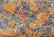 Marbled Posters - Decorative end paper Poster by English School