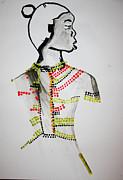 Dinka Bride - South Sudan Print by Gloria Ssali