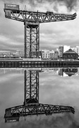 Glasgow City Centre Scotland Prints - Finnieston Crane Glasgow Print by John Farnan