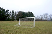 Soccer Field Framed Prints - Goal Framed Print by Bernard Jaubert