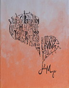 John Mayer Framed Prints - Half of My Heart Framed Print by Leah Price