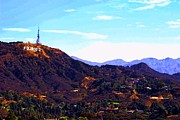 Iconic Paintings - Hollywood Sign by RJ Aguilar